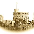 Windsor Castle in Sepia by Chris Day