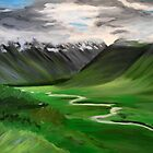 Iceland. 30 x 24 Acrylic Painting by csoccio100