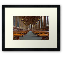 Suzzallo Library (University of Washington) (NON HDR version) Framed Print