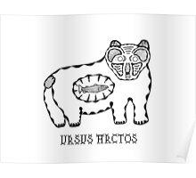 Animals of the North - Brown Bear / Ursus Arctos Poster