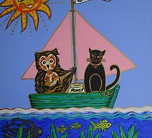 """The Owl & Pussycat went to sea ..."" by Ilze Coombe"