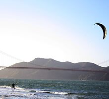 Kitesurfing at the Golden Gate by bigj13383