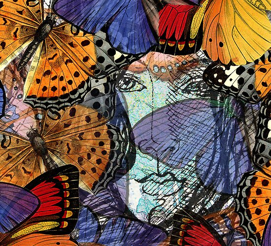 Face Framed by Butterflies – March 27, 2010 by Ivana Redwine