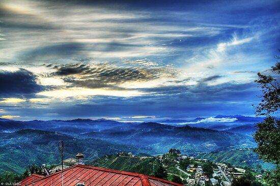 Sunset in Almora by rickvohra