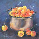 Cherries in a Copper Pan by artbyrachel