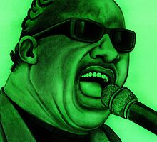 Stevie Wonder celebrity portrait 129 views by Margaret Sanderson