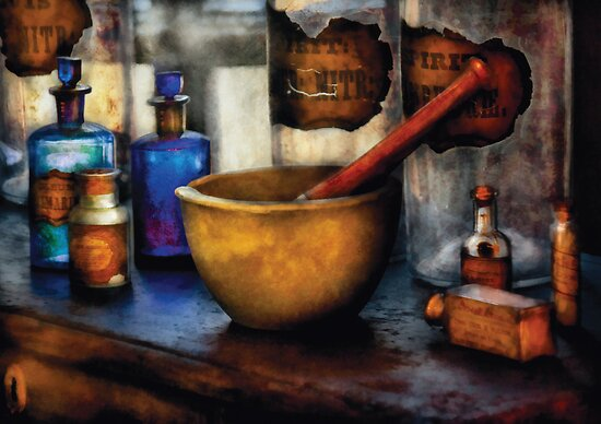 """Pharmacist - Mortar and Pestle"" Posters by Mike Savad ..."