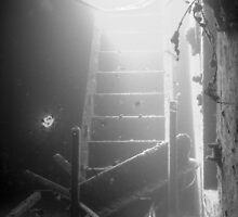 Stairwell on the wreck of the Million Hope by ScubaShotz