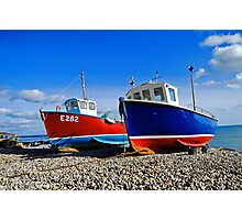 Fishing boats at beer Photographic Print