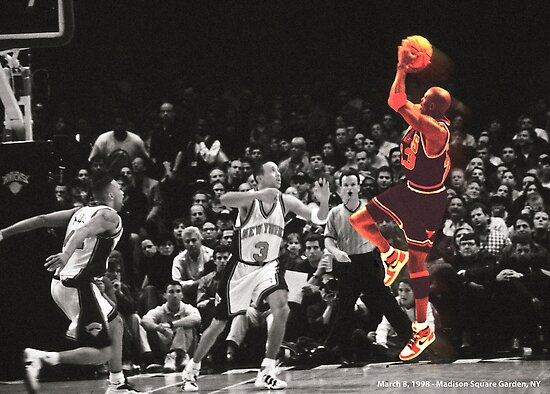 Michael Jordan vs NY Knicks by Jaime Martorano