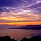 Sunset over the Point Dume , CA by LudaNayvelt
