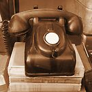 Antique Telephone by LeftHandPrints