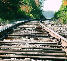 Scenic Railroad Tracks Upper Peninsula, Michigan by Rabecca Primeau