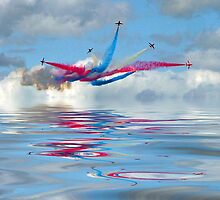 The Red Arrows - Five Four Split by Colin J Williams Photography