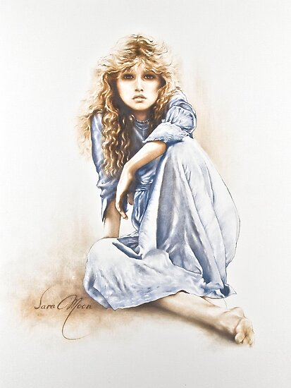 """Hippy Girl"" Painting in Oils by Sara Moon"