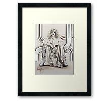 """Natascha"" Painting in Oils Framed Print"