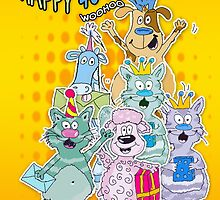 40th Birthday Card With Silly Tonnie Doodles by Moonlake