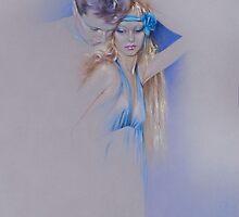 """""""Der Traum"""" Pastel Pencil Artwork by Sara Moon"""