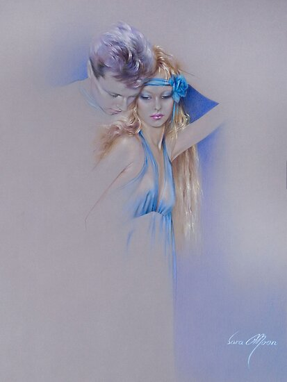 """Der Traum"" Pastel Pencil Artwork by Sara Moon"