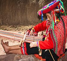 WEAVER FROM CHINCHEROS / PERU by Christine Kradolfer