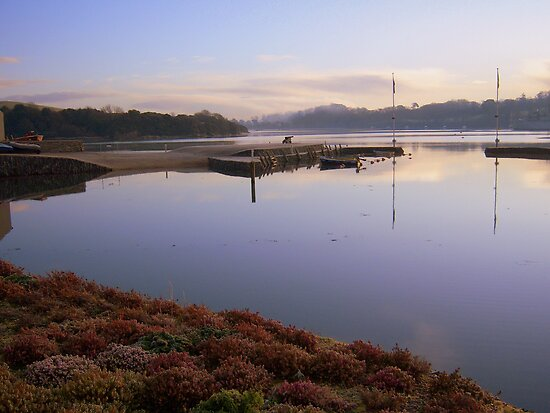Cornwall: All Calm at Forder Lake by Rob Parsons