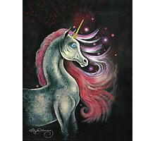 The Unicorn And The Red Stars Photographic Print
