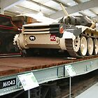Tank on Flatbed Wagon  by Woodie