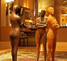 Waiting, Fairmont Hotel Lobby, Dallas by Kenric A. Prescott