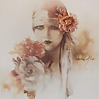 &quot;Claudia&quot; Oil on Canvas by Sara Moon