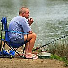 Fishing the Maribyrnong River at Essendon by Darren Stones