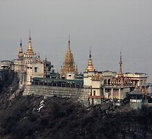Buddhist monastery on Taung Kalat by Matt Penfold