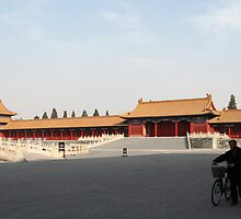 Lone Bicycle in the Forbidden City by L- M-K