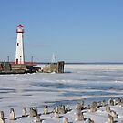 Wawatam Lighthouse in Winter by Megan Noble