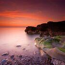 Sunset on Parton Beach by Brian Kerr