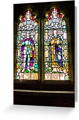 Hubberholme Church Window #1 by Trevor Kersley