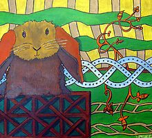 304 - CELTIC BUNNY - DAVE EDWARDS - ACRYLIC & INK - 2010 by BLYTHART