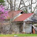 Spring at the Old Gas Station by Janie Oliver