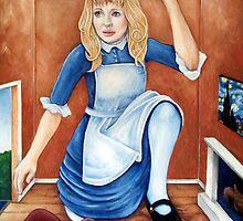 Stuck in White Rabbit's House by whiterabbitart