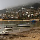Low cloud over Mousehole Harbour by Lorraine Parramore