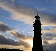Silhouette of Smeaton's Tower, Plymouth, UK by buttonpresser
