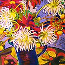 Jug of Dahlias by marlene veronique holdsworth