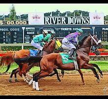 River Downs, Just out of the Gate by Brandon Batie