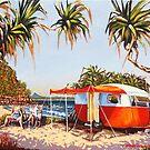 Enjoying the Noosa break, or Poms in Paradise. by Michael Jones