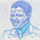 Mandela as a young man - 1961 by Mariaan M Krog Fine Art Portfolio
