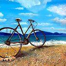 Old Bike at the beach by Kostas Koutsoukanidis