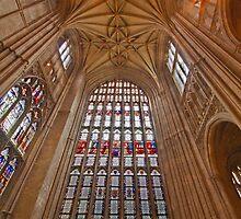 Canterbury cathedral window by Shaun Whiteman