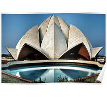 The expressionistic Lotus temple Poster