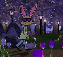 Walking Easter Rabbit by SeaSerpent