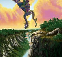 Dragon Soars Over Lion Mountain by Devaron