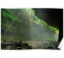 Rock & Light - Rocky Hollow at Turkey Run State Park Poster